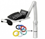 Telephone stand jointed – grey/black